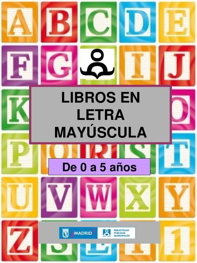 libros para ninos en mayusculas