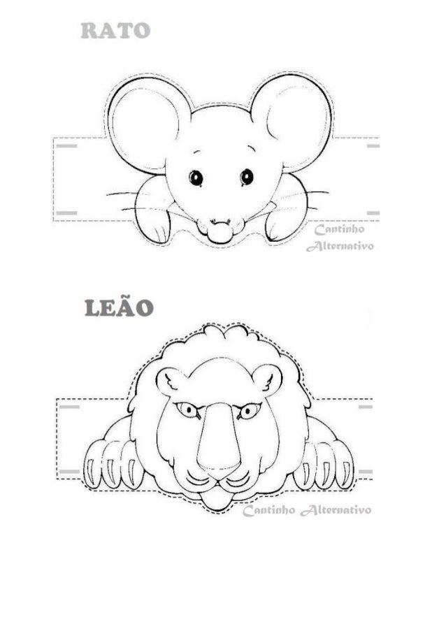 Fábula: O Leão e o Rato Certo dia, estava um Leão a dormir a sesta quando um ratinho começou a correr por cima dele. O Leã...