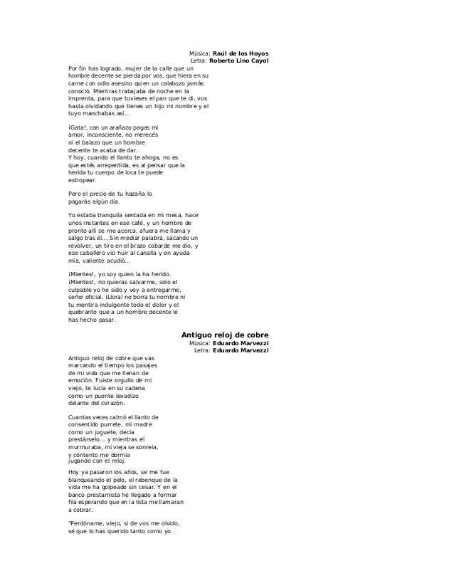 Letras de tango1.1 a la