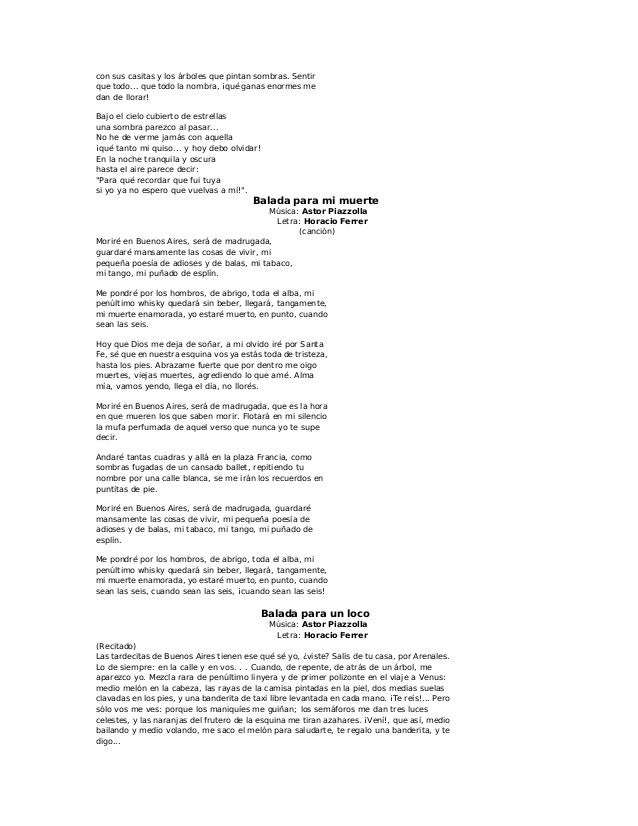 Letras De Tango1 1 A La
