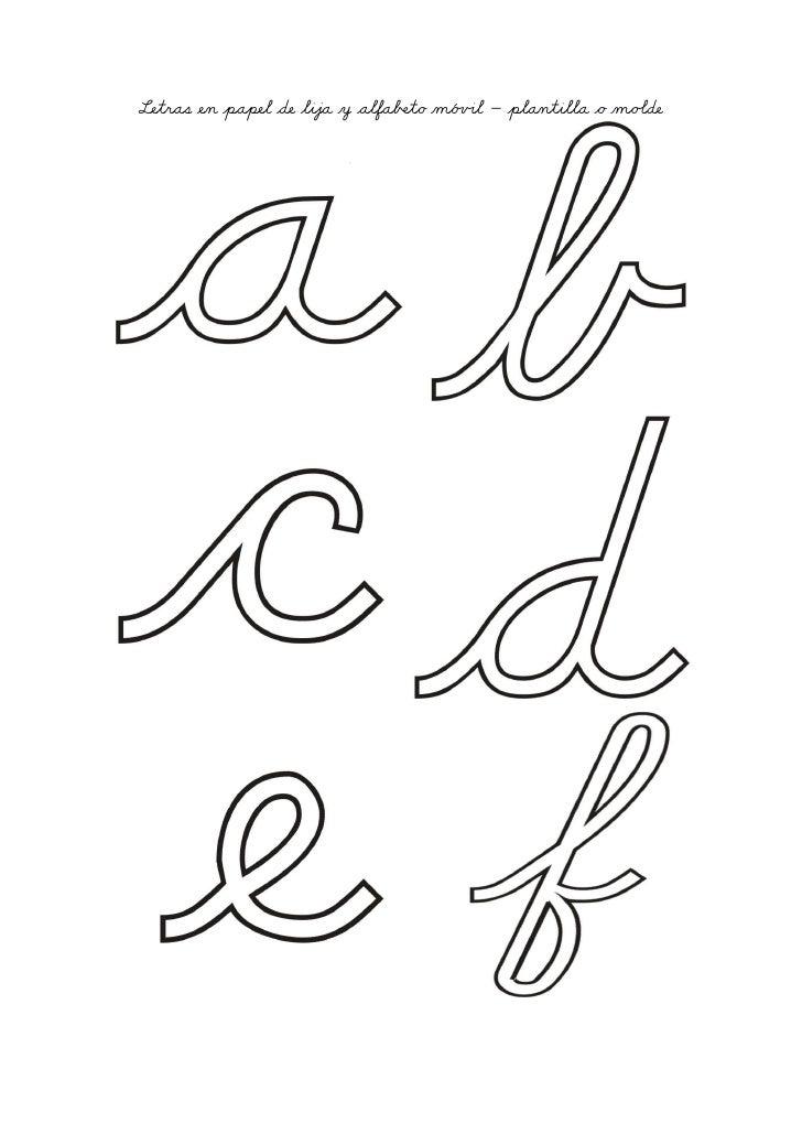 Letras en papel de lija y alfa¯ƒto mó§»l – plantilla o moôde