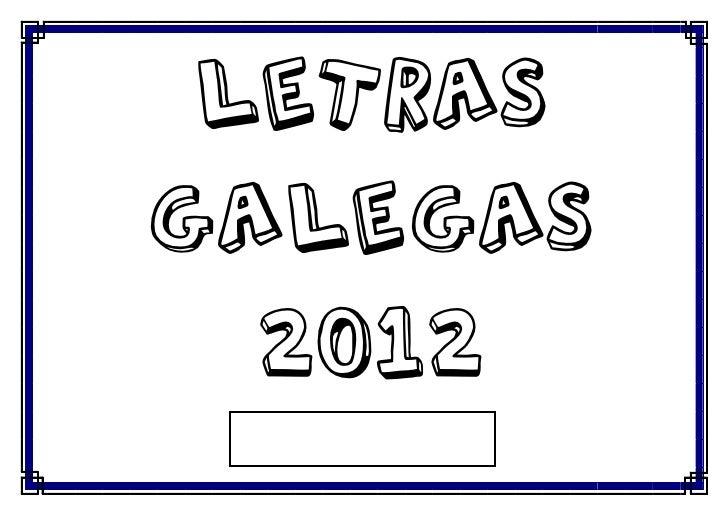 LETRASGALEGAS  2012
