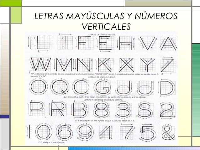 Letras y Numeros Verticales