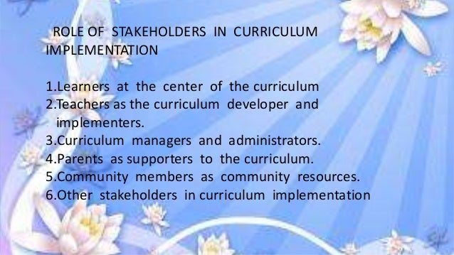 role of community members in curriculum implementation