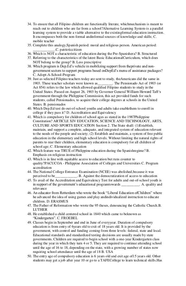let reviewer for professional education pdf