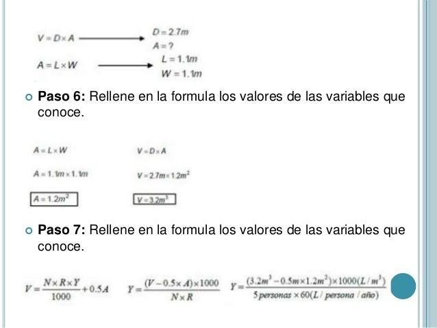  Paso 6: Rellene en la formula los valores de las variables que conoce.  Paso 7: Rellene en la formula los valores de la...