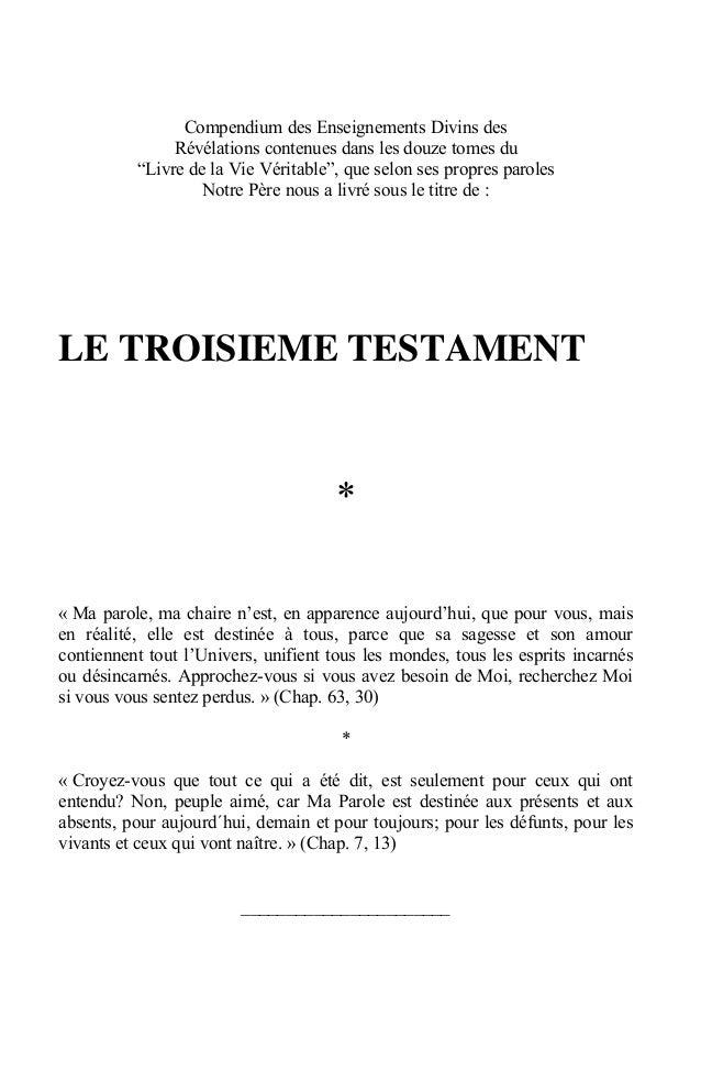 """Compendium des Enseignements Divins des R€v€lations contenues dans les douze tomes du """"Livre de la Vie V€ritable"""", que sel..."""