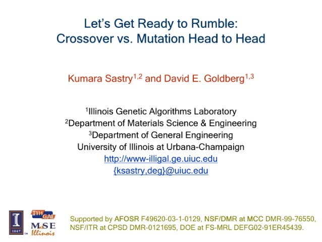 Let's Get Ready To Rumble: Crossover Versus Mutation Head to Head