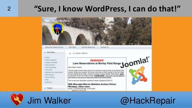WordPress Lets Me Do It! Slide 3