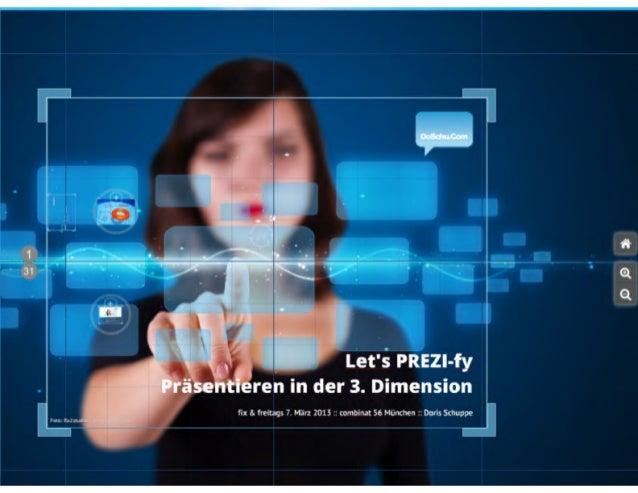 Let's PREZI-fy :: Präsentieren in der 3. Dimension