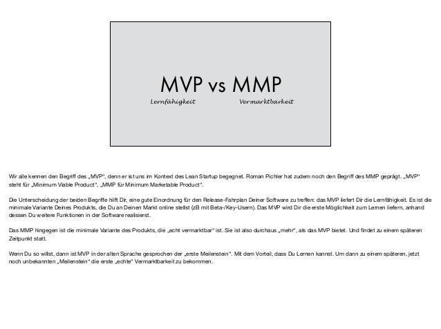 """MVP vs MMP Lernfähigkeit Vermarktbarkeit Wir alle kennen den Begriff des """"MVP"""", denn er ist uns im Kontext des Lean Startup..."""
