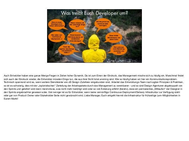 Was treibt Euch Developer um? Alle reden von Continuous Deployment :-( Diese tausend PDF-Dokumente mit versteckten Anforde...