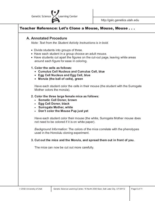 Cloning in Focus webquest - Classroom Websites