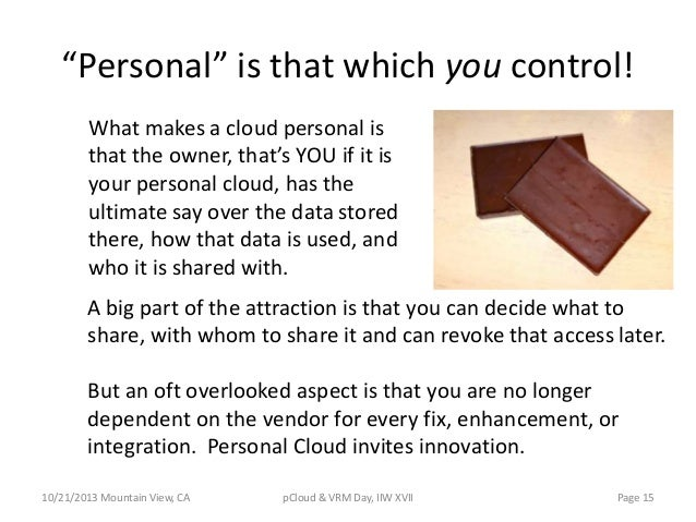 """""""Personal"""" is that which you control! What makes a cloud personal is that the owner, that's YOU if it is your personal clo..."""