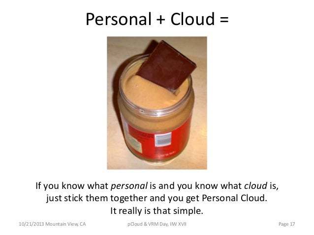 Personal + Cloud =  If you know what personal is and you know what cloud is, just stick them together and you get Personal...