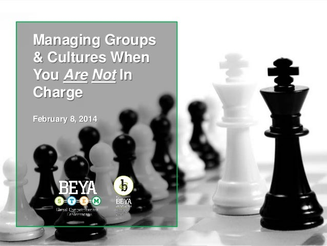 Managing Groups & Cultures When You Are Not In Charge February 8, 2014