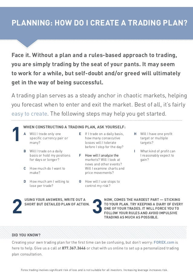 A forex trading plan limit your greed