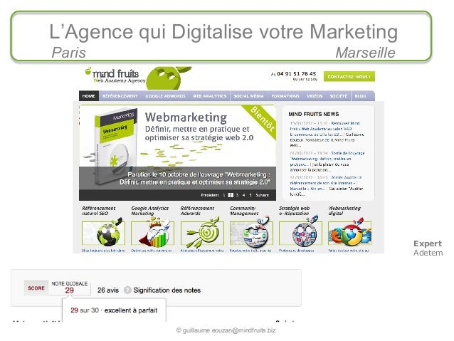 L'Agence qui Digitalise votre Marketing    Paris                                             Marseille                    ...