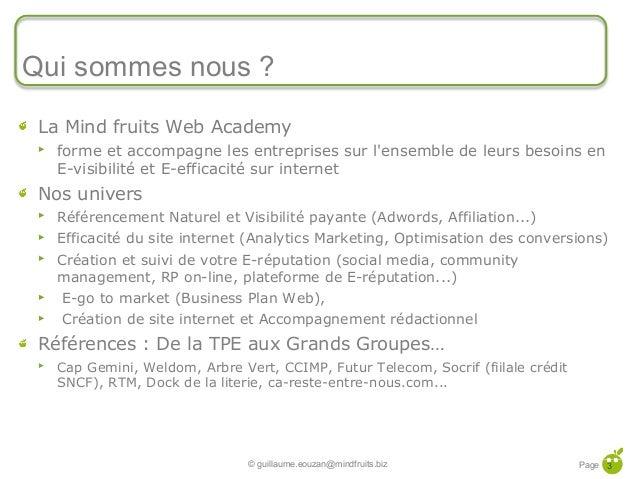 Let's go to E-market 2013 : Les Commandements Web-Marketing pour 2013 Slide 3
