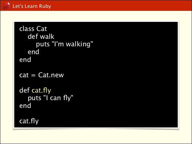 Let's Learn Ruby  Method Missing
