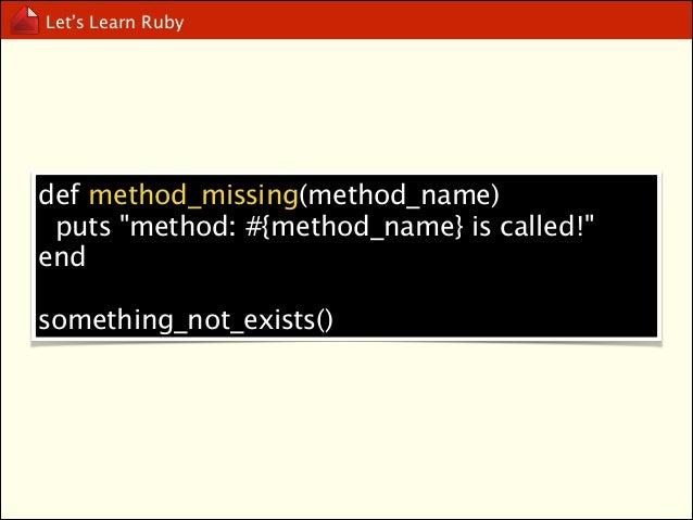 Let's Learn Ruby  Exception Handling  begin .. rescue.. else.. ensure.. end