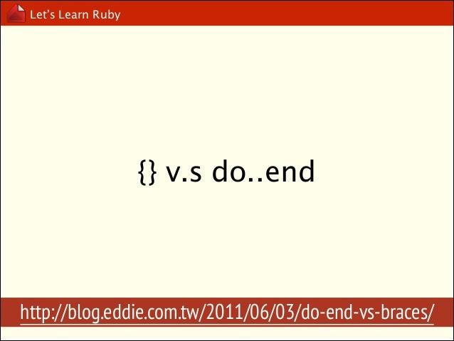 Let's Learn Ruby  Yield