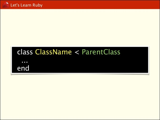 Let's Learn Ruby  Naming Convention
