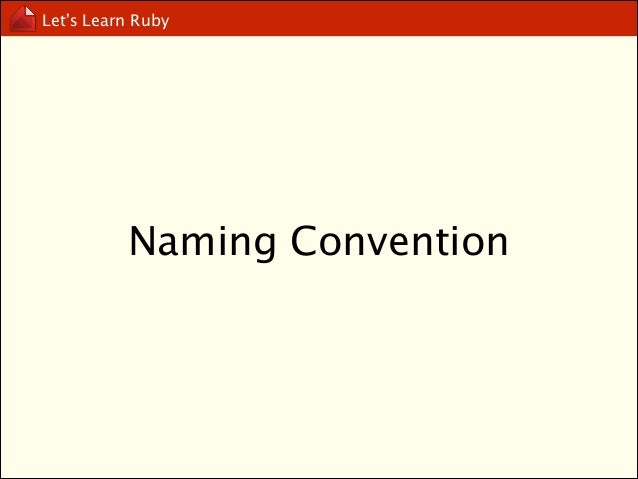 Let's Learn Ruby  initialize