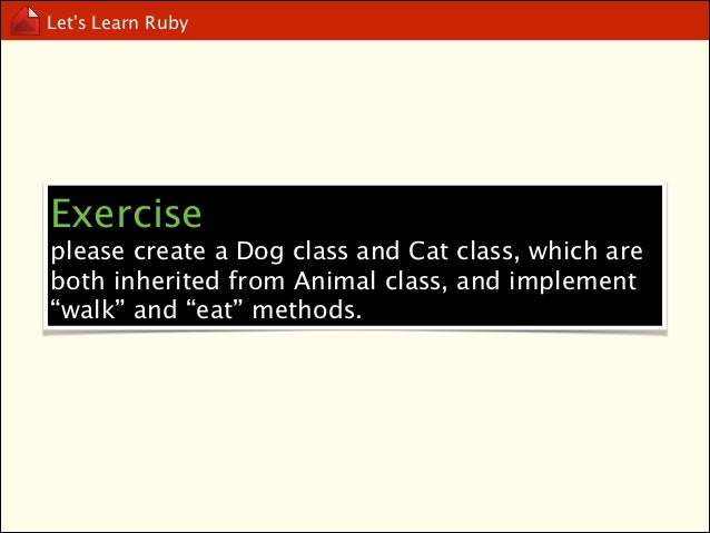 Let's Learn Ruby  public, protected and private method