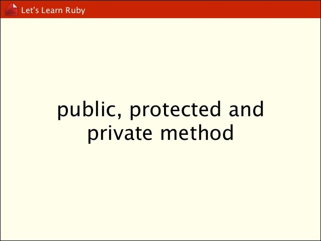 Let's Learn Ruby  getter and setter