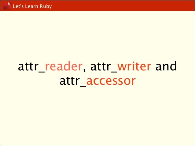 Let's Learn Ruby  Open Class