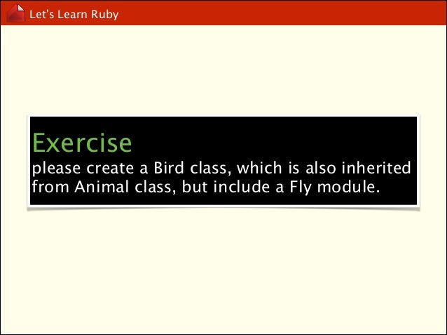 Let's Learn Ruby  Mixin