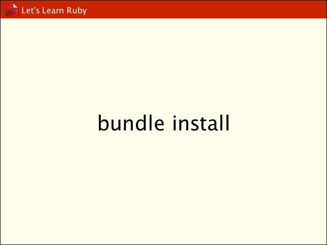 Let's Learn Ruby  pack your own gem!