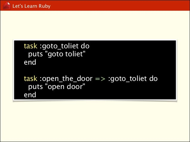 Let's Learn Ruby  TDD