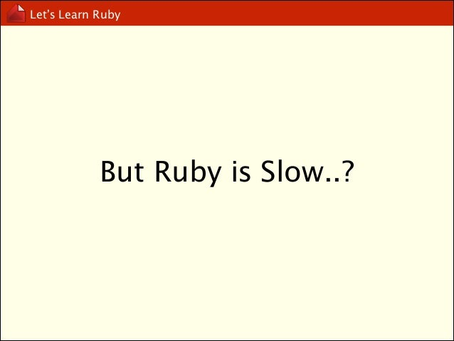 Let's Learn Ruby  What can Ruby do?