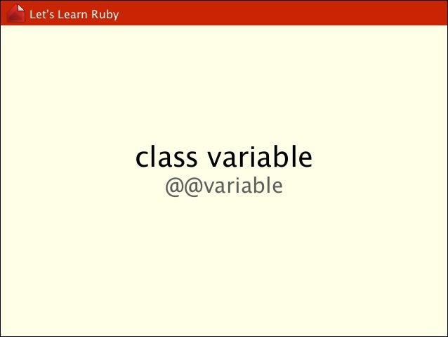 Let's Learn Ruby  virtual variable true, false, self, nil