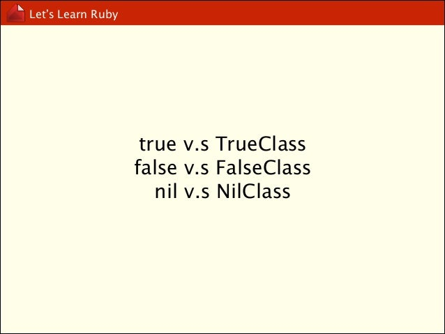 Let's Learn Ruby  if..elsif..end
