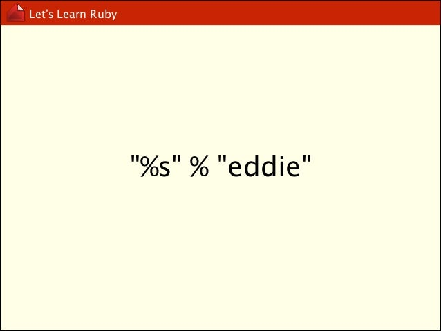 Let's Learn Ruby  string interpolation