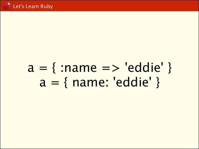 Let's Learn Ruby  Range  http://ruby-doc.org/core-2.1.0/Range.html