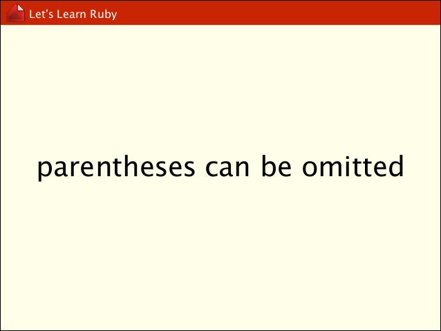 Let's Learn Ruby  ? and !