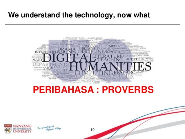 We understand the technology, now what 10 PERIBAHASA : PROVERBS