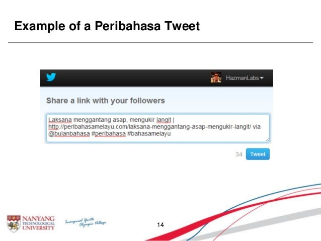 Example of a Peribahasa Tweet 14
