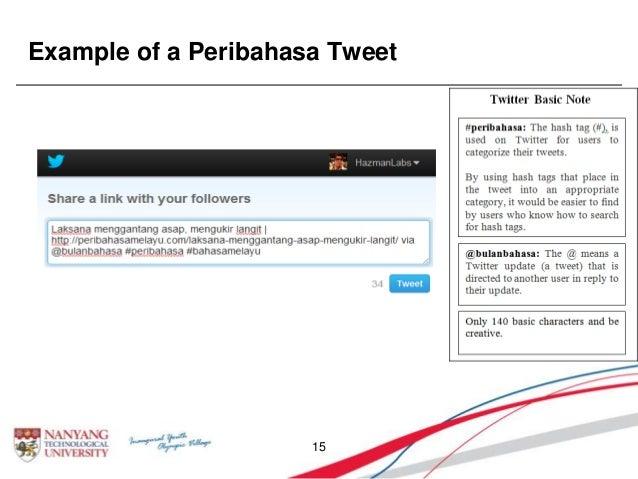 Example of a Peribahasa Tweet 15