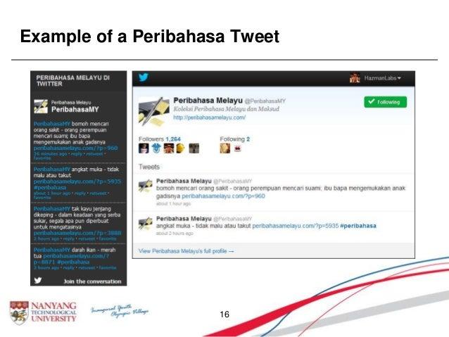Example of a Peribahasa Tweet 16