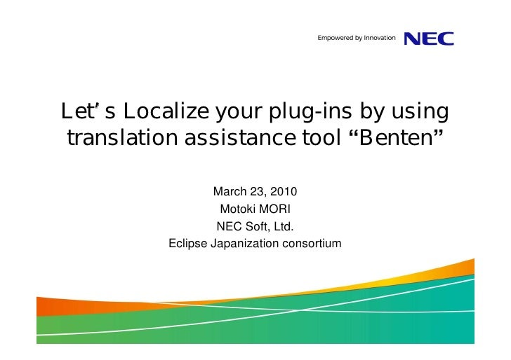 "Let s Localize your plug-ins by using translation assistance tool ""Benten""                    March 23, 2010              ..."