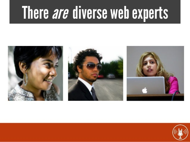There are diverse web experts