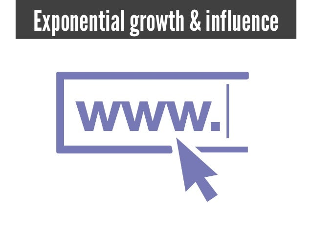 Exponential growth & influence