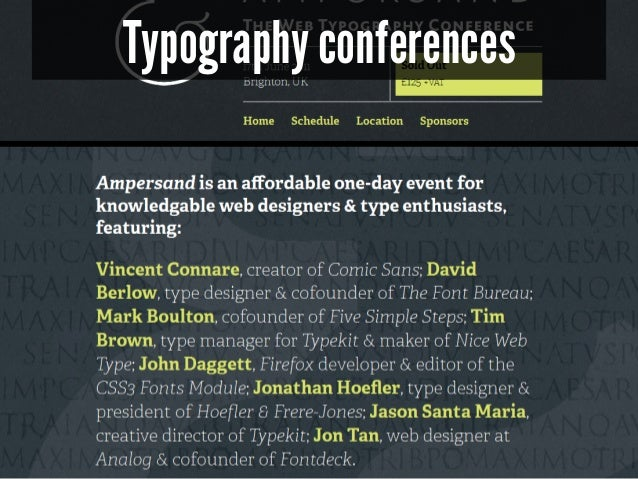 Typography conferences