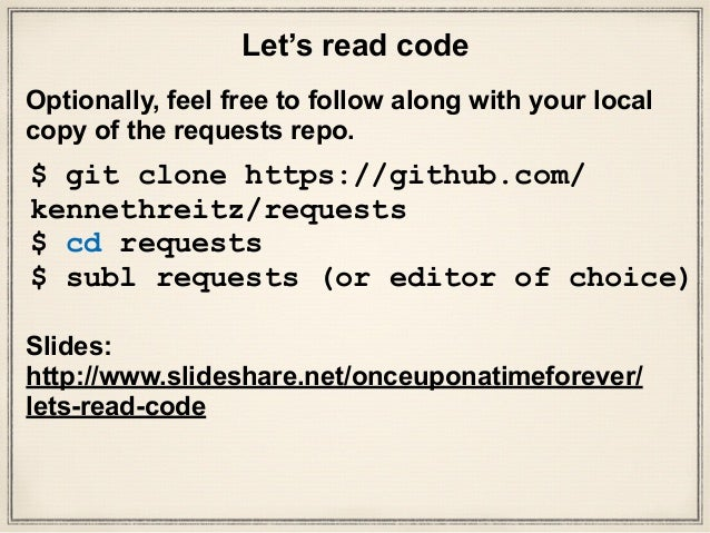 Let's read code: the python-requests library