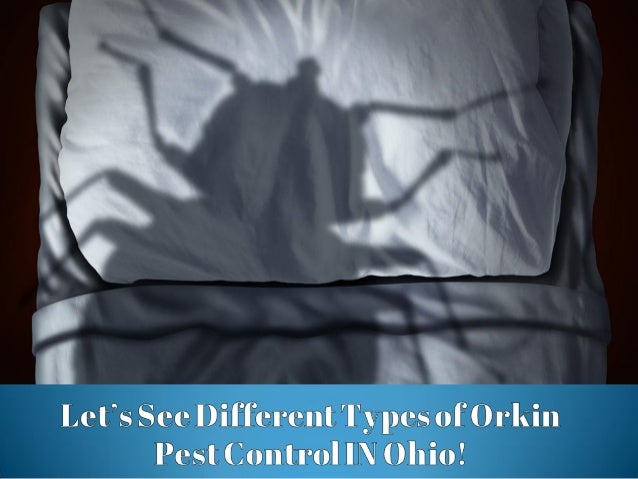 Let's see different types of orkin pest control in ohio!
